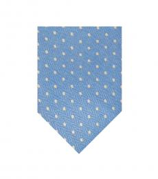 Yellow-Blue Business Dot Overlay Tie