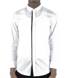 Emporio Armani White Cotton Popeline Shirt