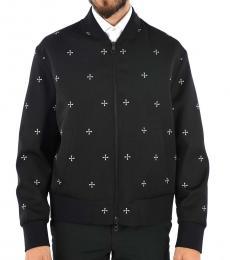 Neil Barrett Black Printed Bomber Jacket