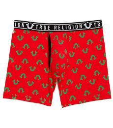 True Religion Red Logo Boxer Brief Underwear