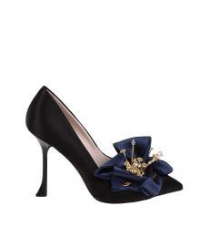 Black Viv Fire Floral Heels