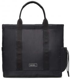 Calvin Klein Black Solid Large Tote