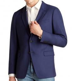 Theory Dark Blue Chambers Wool Jacket
