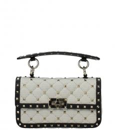Valentino Garavani Grey Rockstud Mini Shoulder Bag
