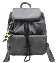 See by Chloe Dark Grey Star Charm Large Backpack