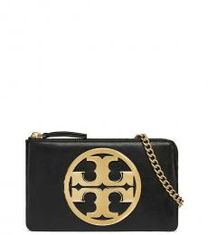 Tory Burch Black Charlie Mini Crossbody