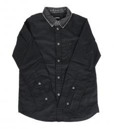 Diesel Boys Black Popeline Shirt