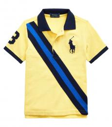 Ralph Lauren Little Boys Oasis Yellow Big Pony Banner Polo