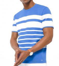 Light Blue Striped Jersey T-Shirt