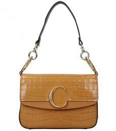 Chloe Light Brown C Double Small Shoulder Bag