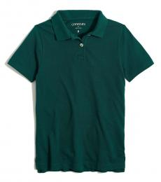 J.Crew Little Girls Academic Green Uniform Polo