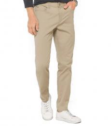 Sand Slim-Fit Cotton-Twill Pants