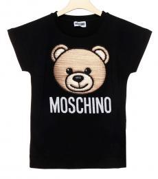 Moschino Boys Black Teddy T-Shirt