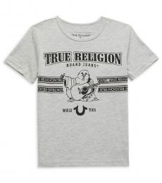 True Religion Little Boys Grey Logo Graphic T-Shirt