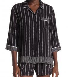 DKNY Black Striped 2-Piece Set