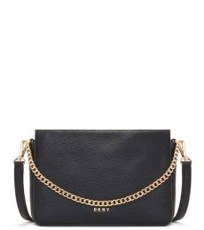 Black/Gold Fran Chain Small Crossbody
