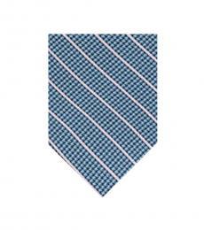 DKNY Green Pillar Diagonal Stripe Tie