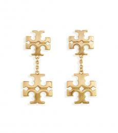 Tory Burch Gold Kira Linear Double Drop Earrings