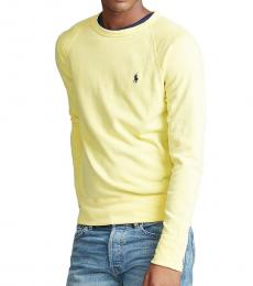 Ralph Lauren Light Yellow Spa Terry Sweatshirt