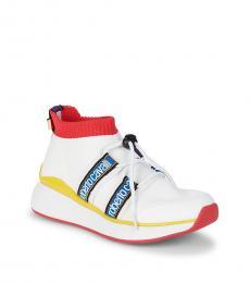 Roberto Cavalli White Lace-Up Vamp Sneakers