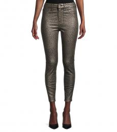 7 For All Mankind Micro Leopard High-Rise Ankle Skinny Jeans