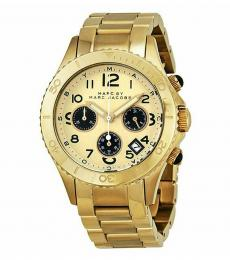 Marc Jacobs Golden Chronograph Watch