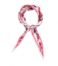 Vince Camuto Maroon White Linear Floral Kite