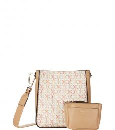 Calvin Klein Off White Lucia Large Crossbody Bag