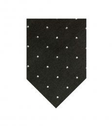 Tom Ford Dark Green White Polka Dot Tie