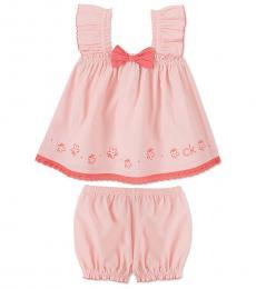 Calvin Klein 2 Piece Tank Top/Shorts Set (Baby Girls)