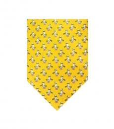 Salvatore Ferragamo Yellow Captain Duck Print Tie