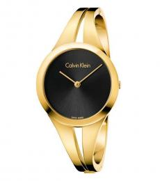 Calvin Klein Golden Black Dial Watch