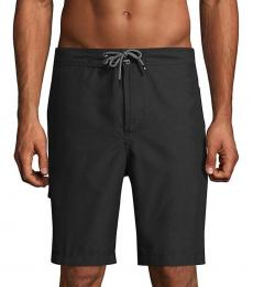 Tommy Bahama Black Solid Swim Trunks