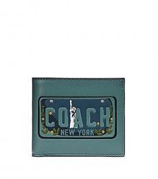 Coach Blue Liberty NY Wallet