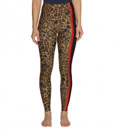 Betsey Johnson Leopard Print Poppy-Pocket Leggings