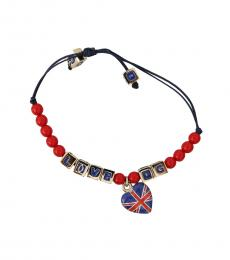 Dolce & Gabbana Blue-Red Beaded Bracelet