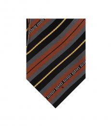 Brown Regimental Stripe Tie