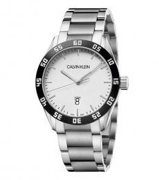 Calvin Klein Silver Black Complete Watch