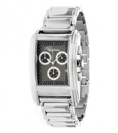 Roberto Cavalli Silver Taupe Chronograph Date Watch