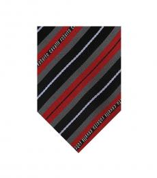 Red Regimental Stripe Tie