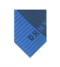 DKNY Blue Crosswalk Striped Tie