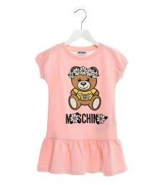 Moschino Girls Pink Teddy Dress