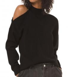 Michael Kors Black Asymmetric Turtleneck Sweater
