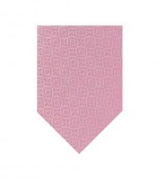 DKNY Pink Kelly Slim Silk Tie