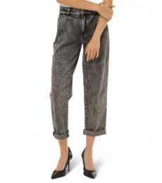 Michael Kors Black Acid-Wash Denim Jeans