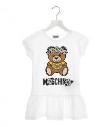 Moschino Girls White Teddy Dress