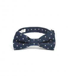 Navy Blue Patterned Bow Tie