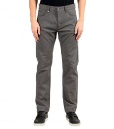 Grey Plaid Regular Fit Jeans
