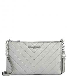Karl Lagerfeld Eclipse Gray Quilted Medium Crossbody