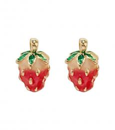 Betsey Johnson Red Lovely Strawberry Earrings